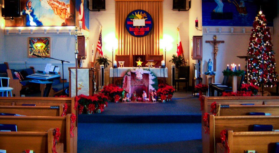 christmas church decorations